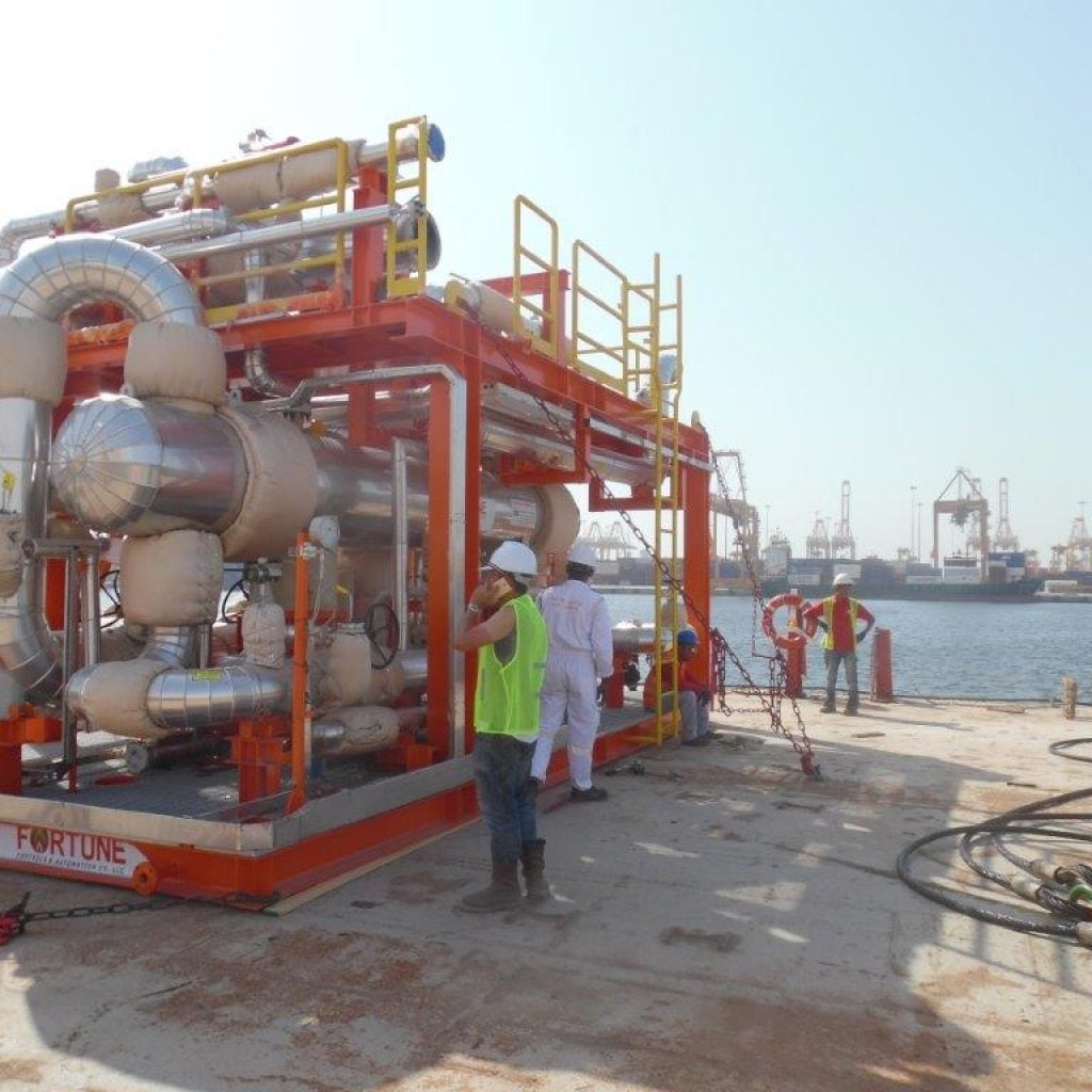 pni logitics - project logistics floating production storage and off-loading vessel part water metering skid