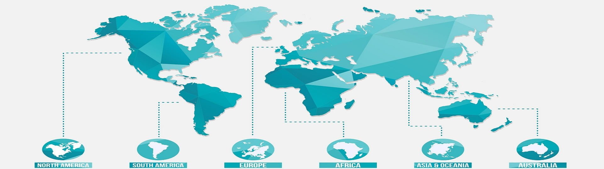freight forwarding and project logistics world wide operations map